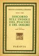 Cover of Discorso Sull'Indole del Piacere e del Dolore