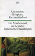 Cover of Italienische Erzählungen des 20. Jahrhunderts / Racconti italiani del novecento