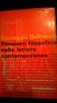 Cover of Pensiero filosofico nelle lettere contemporanee