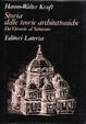 Cover of Storia delle teorie architettoniche da Vitruvio al Settecento