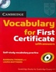 Cover of Cambridge Vocabulary for first certificate (with answers)