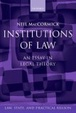 Cover of Institutions of Law