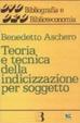 Cover of Teoria e tecnica dellindicazione per soggetto