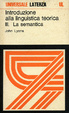 Cover of Introduzione alla linguistica teorica / La semantica