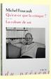 Cover of Qu'est-ce que la critique?; La culture de soi