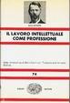 Cover of Il lavoro intellettuale come professione