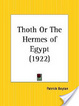 Cover of Thoth Or the Hermes of Egypt