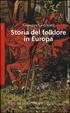 Cover of Storia del folklore in Europa