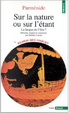 Cover of Sur la nature ou sur l'étant