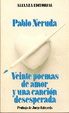 Cover of Veinte poemas de amor y una cancion desesperada