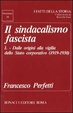Cover of Il Sindacalismo fascista