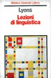 Cover of Lezioni di linguistica
