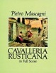 Cover of Cavalleria Rusticana in Full Score