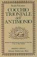 Cover of Cocchio trionfale dell'antimonio