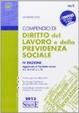Cover of Compendio di diritto del lavoro e della previdenza sociale