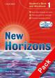 Cover of New horizons. Level 1. Starter-Student's book-Workbook-Homework book-My digital book. Con espansione online. Per le Scuole superiori