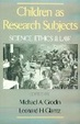 Cover of Children as Research Subjects