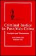 Cover of Criminal Justice in Post-Mao China