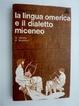 Cover of La lingua omerica e il dialetto miceneo