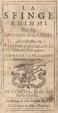 Cover of La sfinge enimmi del sig. Antonio Malatesti