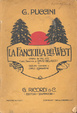 Cover of La fanciulla del West