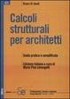 Cover of Calcoli strutturali per architetti