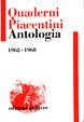 Cover of Quaderni Piacentini Antologia 1962-1968