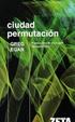 Cover of Ciudad permutación