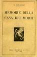 Cover of Memorie della casa dei morti