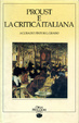 Cover of Proust e la critica italiana
