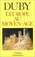 Cover of L'Europe au Moyen Age