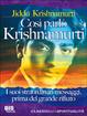 Cover of Così parlò Krishnamurti