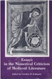Cover of Essays in the Numerical Criticism of Medieval Literature