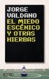 Cover of El Miedo Escenico y Otras Hierbas