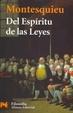 Cover of Del espíritu de las leyes