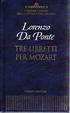 Cover of Tre libretti per Mozart