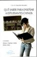 Cover of QUE SABER PARA ENSEÑAR A ESTUDIANTES CHINOS