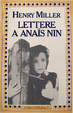 Cover of Lettere a Anaïs Nin