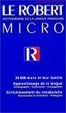Cover of Le Robert Micro de la langue française, édition 1998