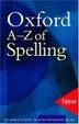 Cover of Oxford A-Z of Spelling