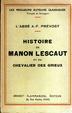 Cover of Histoire de Manon Lescaut et du Chevalier Des Grieux