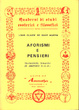 Cover of Aforismi e pensieri