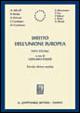 Cover of Diritto dell'Unione Europea