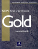Cover of New First Certificate Gold Coursebook