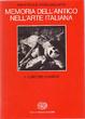 Cover of Memoria dell'antico nell'arte italiana, 1