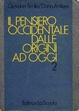Cover of Il pensiero occidentale dalle origini ad oggi
