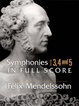 Cover of Symphonies Nos. 3, 4 and 5 in Full Score