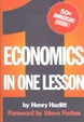 Cover of Economics in one lesson