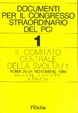 Cover of Documenti per il congresso straordinario del Pci - 1