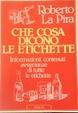 Cover of Che cosa dicono le etichette